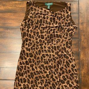 Animal print cheetah print classy work dress sz 6